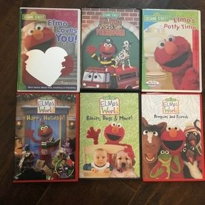 Sesame Street, Elmo, PresPr and Baby Einstein DVDs